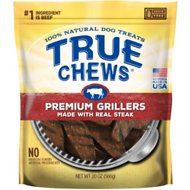 True Chews Premium Grillers with Real Steak Dog Treats, 20-oz bag