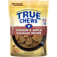 True Chews Chicken & Apple Sausage Recipe Dog Treats, 12-oz bag