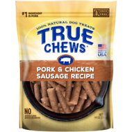 True Chews Pork & Chicken Sausage Recipe Dog Treats, 14-oz bag
