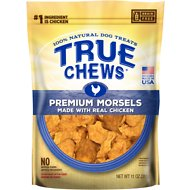 True Chews Premium Morsels with Real Chicken Dog Treats, 11-oz bag