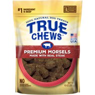 True Chews Premium Morsels with Real Steak Dog Treats, 10-oz bag