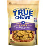 True Chews Chicken & Blueberry Grain-Free Bakes Dog Treats, 8-oz bag