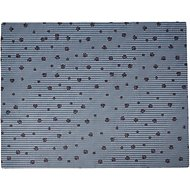 Drymate Linen-Scented Cat Litter Mat, Gray Stripe, Large