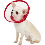 Alfie Pet Zumi Soft Edge Velcro Closure Dog & Cat Recovery Collar, Red, X-Small