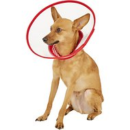 Alfie Pet Zumi Soft Edge Velcro Closure Dog & Cat Recovery Collar, Red, Medium