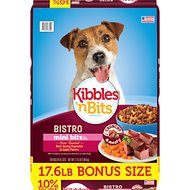 Kibbles 'n Bits Bistro Small Breed Mini Bits Oven Roasted Beef Flavor Dry Dog Food, 17.6-lb bag