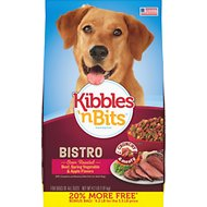 Kibbles 'n Bits Bistro Oven Roasted Beef Flavor Dry Dog Food, 4.2-lb bag