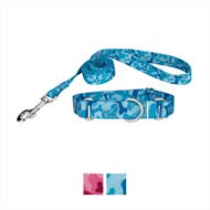 Country Brook Design Bone Camo Martingale Dog Collar & Leash, Medium, Blue