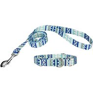 Country Brook Design Martingale Dog Collar & Leash, Snowy Pines, Medium