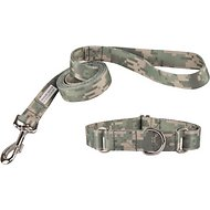Country Brook Design Martingale Dog Collar & Leash, Digital Camo, Medium