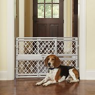 MyPet Paws Portable Pet Gate, Light Gray