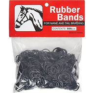 Weaver Leather Horse Mane & Tail Rubber Bands, Black, 500 count