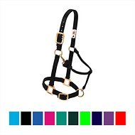 Weaver Leather Original Adjustable Nylon Horse Halter, Black, Average