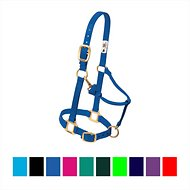 Weaver Leather Original Adjustable Nylon Horse Halter, Blue, Large
