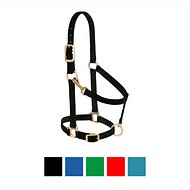 Weaver Leather Basic Adjustable Nylon Horse Halter, Black, Small