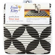 Fresh Kitty Jumbo Foam Circles Cat Litter Mat, Black & White