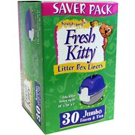 Fresh Kitty Jumbo Litter Box Liners & Ties, 30 count