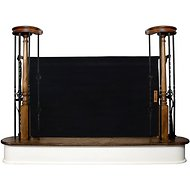 The Stair Barrier Banister to Banister Indoor & Outdoor Fabric Pet Gate, Black, Wide