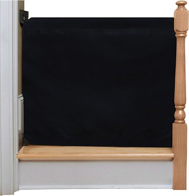 The Stair Barrier Wall To Banister Indoor U0026 Outdoor Fabric Pet Gate, Black,  Wide   Chewy.com