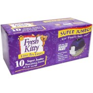 Fresh Kitty Super Jumbo Thick Litter Box Liners, 10 count