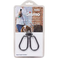 Dog Gone Smart I'm Gismo Dual Dog Leash Holder Connectable Accessory, Black