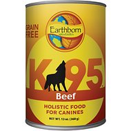 Earthborn Holistic K95 Beef Recipe Grain-Free Canned Dog Food, 13-oz, case of 12