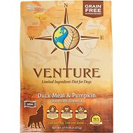Earthborn Holistic Venture Duck Meal & Pumpkin Limited Ingredient Diet Grain-Free Dry Dog Food, 12.5-lb bag