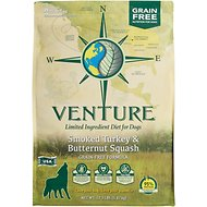 Earthborn Holistic Venture Turkey Meal & Butternut Squash Limited Ingredient Diet Grain-Free Dry Dog Food, 12.5-lb bag