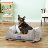Serta Orthopedic Cuddler Dog & Cat Bed, Gray