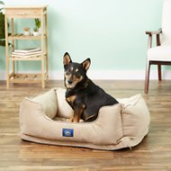 Serta Orthopedic Cuddler Dog & Cat Bed, Tan