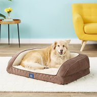 Serta Orthopedic Quilted Dog & Cat Couch Bed, Mocha