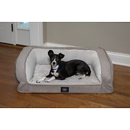 Serta Orthopedic Quilted Dog & Cat Couch Bed, Grey