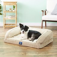 Serta Orthopedic Quilted Dog & Cat Couch Bed, Tan