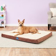 Serta Orthopedic Quilted Pillowtop Dog & Cat Bed, Mocha, X-Large