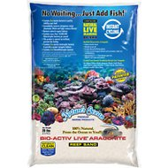 Nature's Ocean Bio-Activ Live Aragonite Saltwater Aquarium Sand, Natural White #1, 20-lb bag