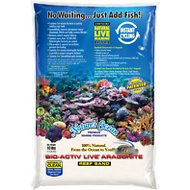 Nature's Ocean Bio-Activ Live Aragonite Saltwater Aquarium Sand, Natural White #0, 10-lb bag