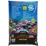 Nature's Ocean Bio-Activ Live Aragonite Saltwater Aquarium Sand, Black, 10-lb bag