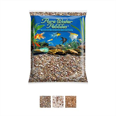 Pure Water Pebbles Natural Aquarium Gravel Berland River 5 Lb Bag Chewy