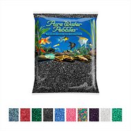 Pure Water Pebbles Coated Aquarium Gravel, Jet Black, 5-lb bag