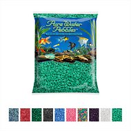 Pure Water Pebbles Coated Aquarium Gravel, Turquiose, 5-lb bag