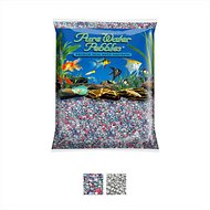 Pure Water Pebbles Frosted Aquarium Gravel, 5-lb bag, Rainbow
