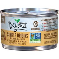 Purina Beyond Simple Origins Farm-Raised Chicken & Sweet Potato Grain-Free Recipe Cat Food, 3-oz, case of 12