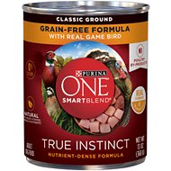 Purina ONE SmartBlend True Instinct Classic Ground with Real Game Bird Dog Food, 13-oz, case of 12