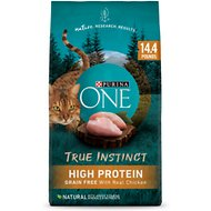 Purina ONE True Instinct Natural Real Chicken Plus Vitamins & Minerals Grain-Free Dry Cat Food