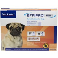 Virbac EFFIPRO Plus Topical Solution for Small Dogs 5-22.9 lbs, 3 Treatments