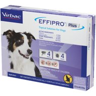 Virbac EFFIPRO Plus Topical Solution for Medium Dogs 23-44.9 lbs, 3 Treatments