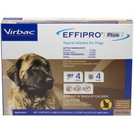 Virbac EFFIPRO Plus Topical Solution for X-Large Dogs 89-132 lbs, 3 Treatments