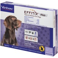 Virbac EFFITIX Plus Topical Solution for Medium Dogs 23-44.9 lbs, 3 Treatments