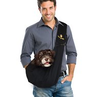 FurryFido Adjustable Pet Sling With Loop, Black