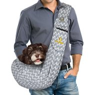 FurryFido Adjustable Pet Sling With Pocket, Twill Grey
